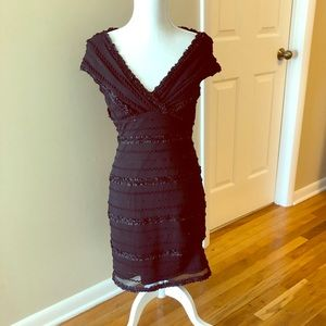 JS Blk Sparkly ribbon Dress sz 8 Cocktail
